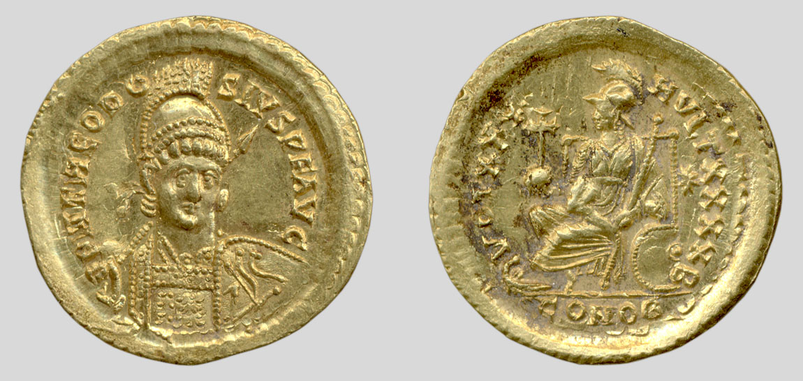 Solidus of Theodosius II, Constantinople mint